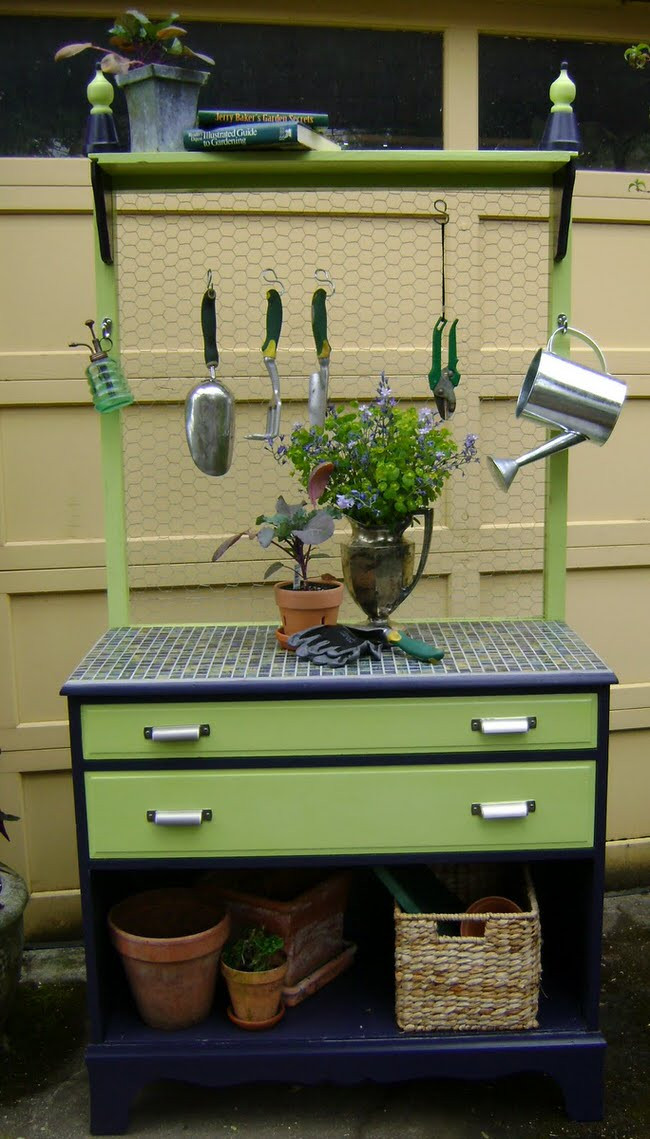 Best ideas about DIY Potting Benches . Save or Pin DIY Potting Benches Now.