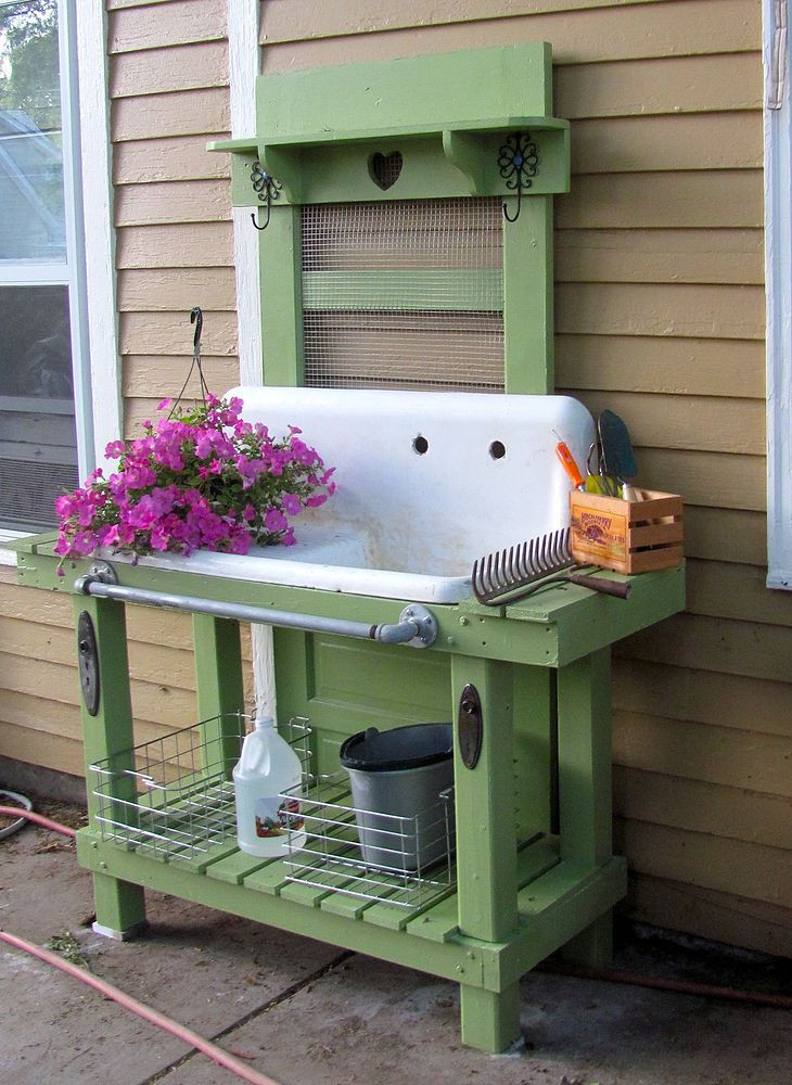 Best ideas about DIY Potting Benches . Save or Pin Pretty Potting Tables For Spring Sprucing Your Home Now.