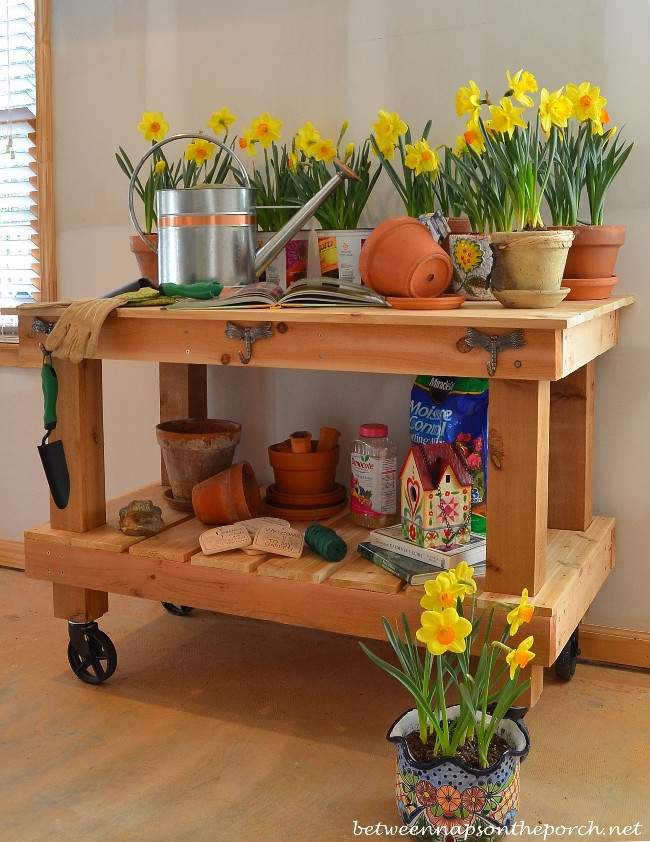 Best ideas about DIY Potting Benches . Save or Pin Build a Potting Bench or Garden Buffet Table Pottery Barn Now.