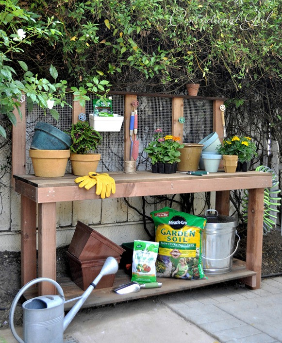 Best ideas about DIY Potting Benches . Save or Pin DIY Potting Bench Now.