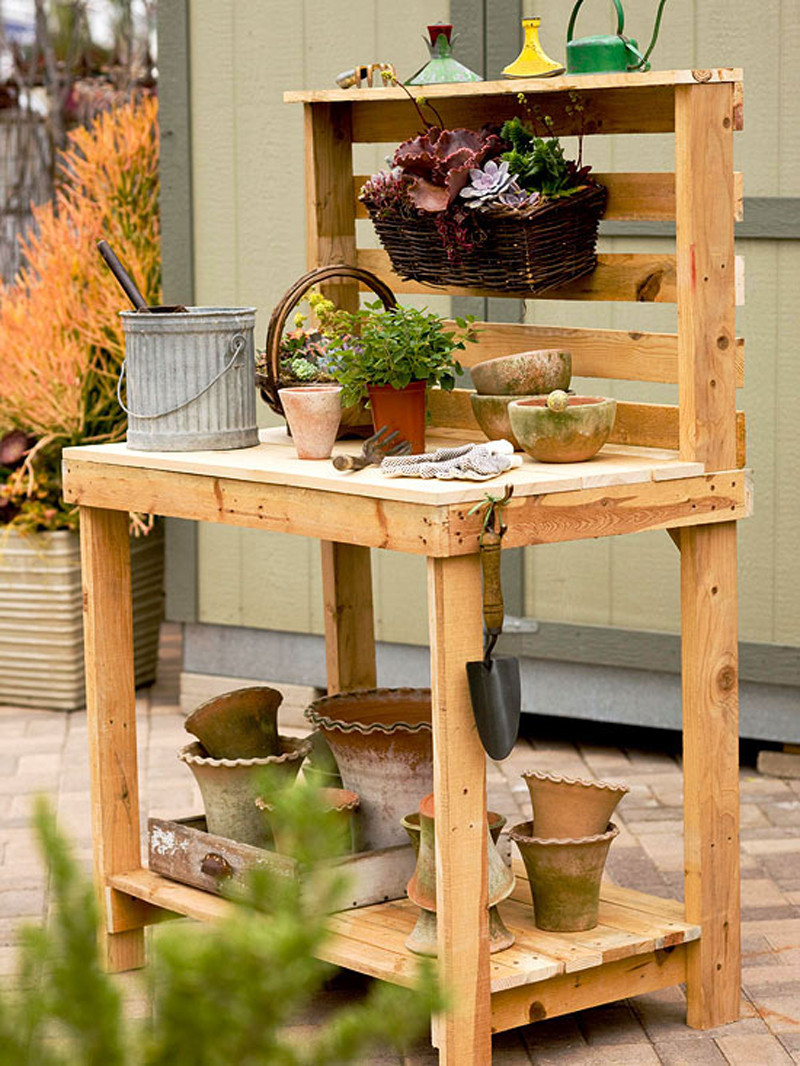 Best ideas about DIY Potting Benches . Save or Pin How to Make Potting Bench DIY & Crafts Handimania Now.