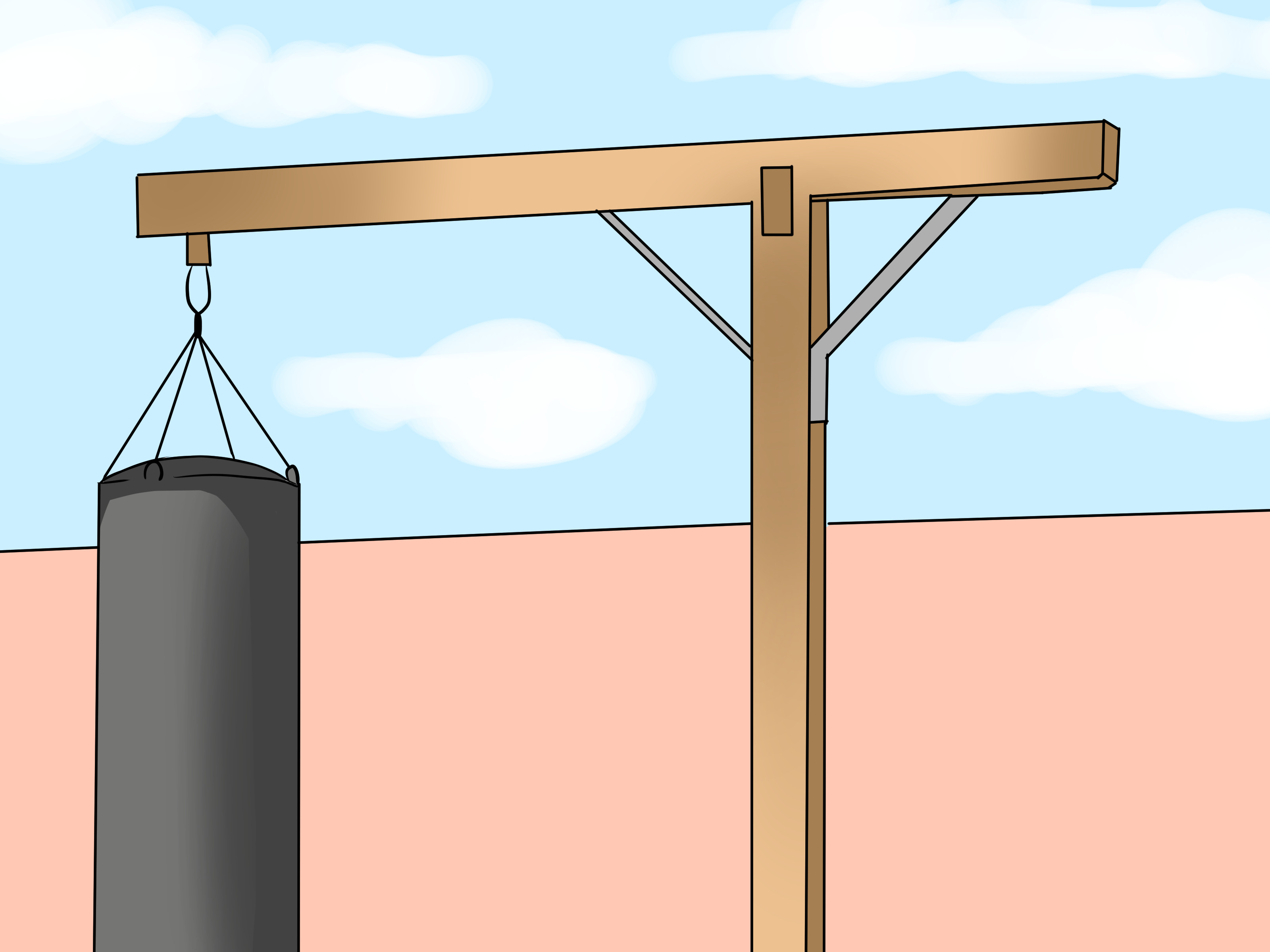Best ideas about DIY Punch Bag Stand . Save or Pin How to Make a Punching Bag Stand 9 Steps with Now.