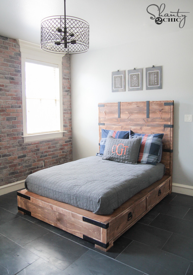 Best ideas about DIY Queen Storage Bed . Save or Pin DIY Full or Queen Size Storage Bed Shanty 2 Chic Now.