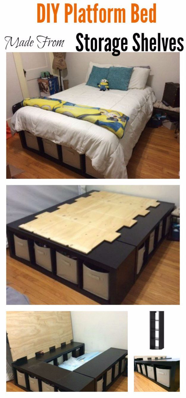 Best ideas about DIY Queen Storage Bed . Save or Pin 35 DIY Platform Beds For An Impressive Bedroom Now.