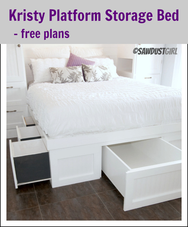Best ideas about DIY Queen Storage Bed . Save or Pin Queen Platform Storage Bed Kristy Collection Sawdust Girl Now.