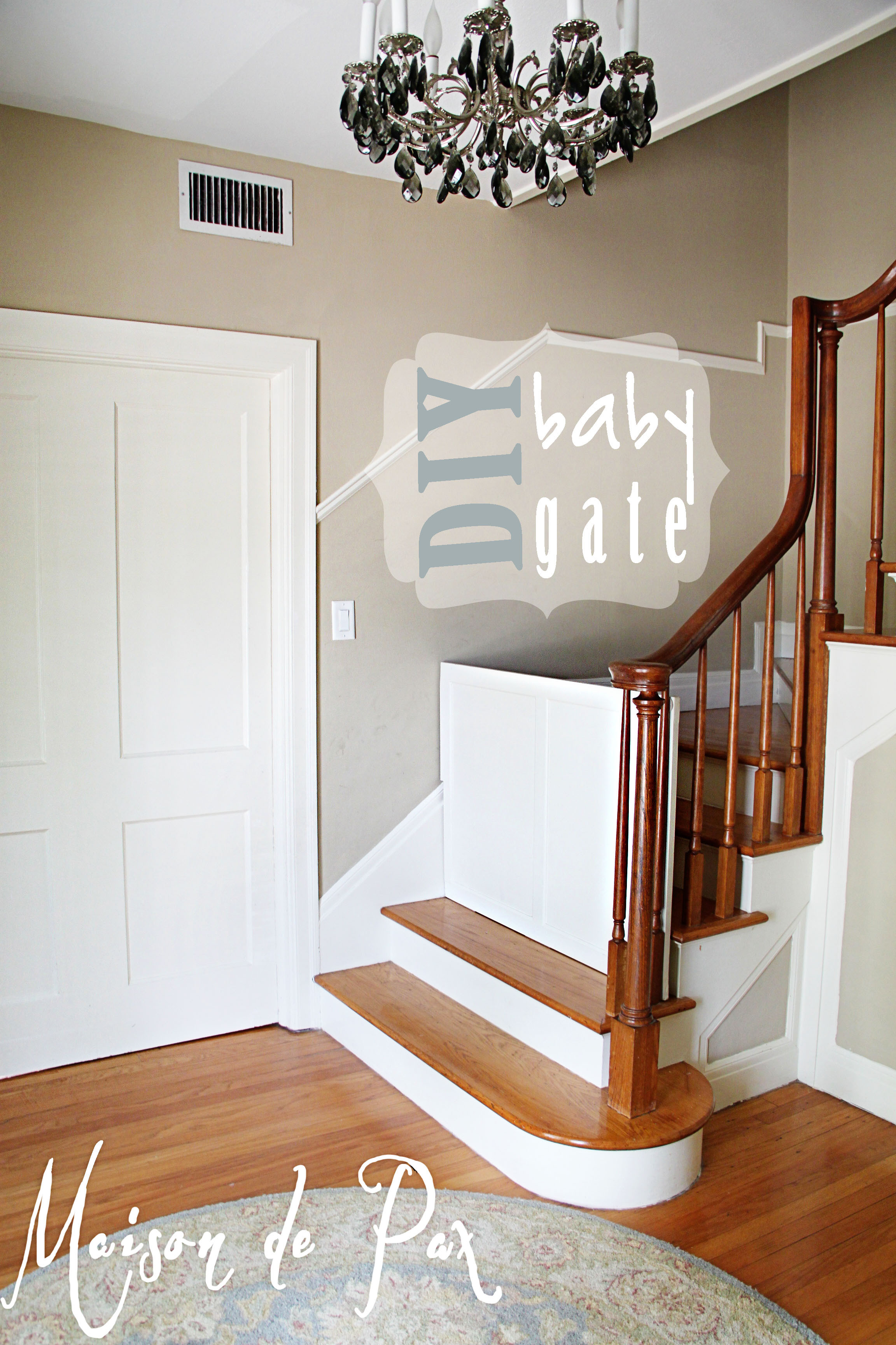 Best ideas about DIY Retractable Baby Gate . Save or Pin DIY Classy Baby Gate Maison de Pax Now.