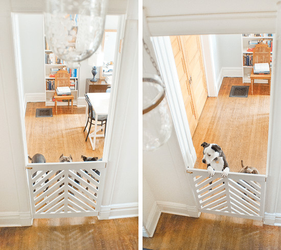 Best ideas about DIY Retractable Baby Gate . Save or Pin Doggie Gate DIY Ace Kick f Yellow Brick Home Now.