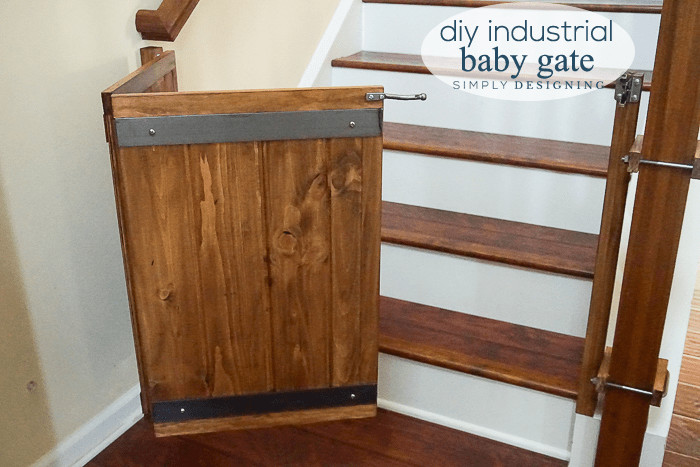 Best ideas about DIY Retractable Baby Gate . Save or Pin How to Make a Custom DIY Baby Gate with an Industrial Style Now.