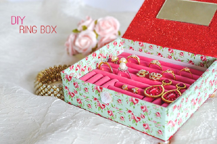 Best ideas about DIY Ring Box . Save or Pin Top 10 DIY Jewelry Box Ideas Top Inspired Now.