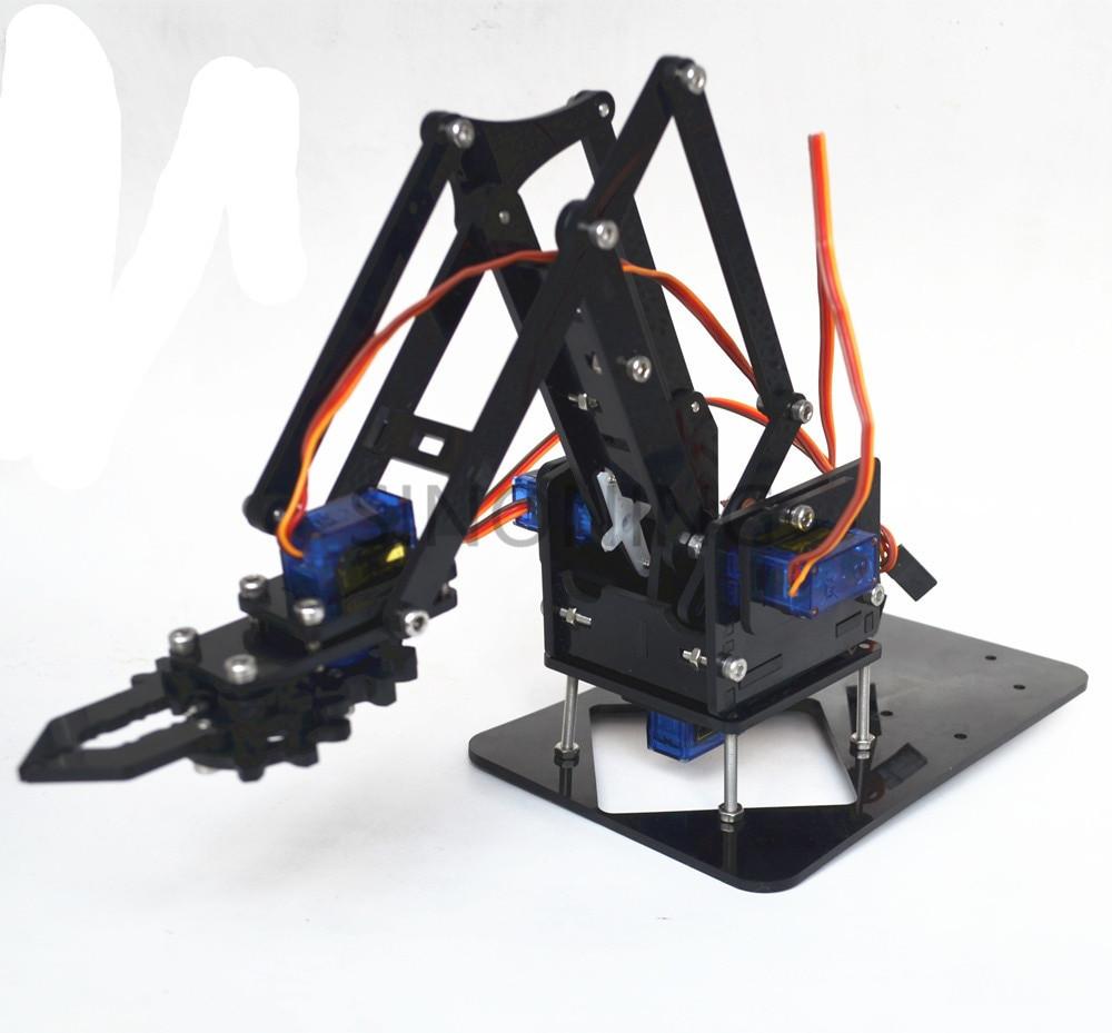 Best ideas about DIY Robot Arm Kit Educational Robotic Claw Set . Save or Pin Acrylic Mechanics Handle Robot 4 DOF arm arduino Created Now.