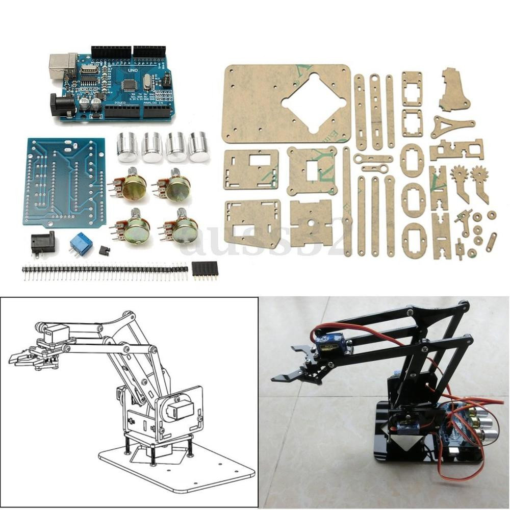 """Best ideas about DIY Robot Arm Kit Educational Robotic Claw Set . Save or Pin 9 8"""" DIY Acrylic Robot Arm Claw Kit For 4DOF Mechanical Now."""