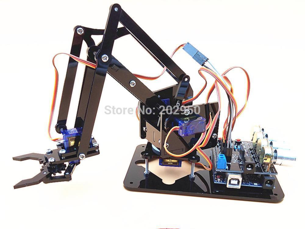 Best ideas about DIY Robot Arm Kit Educational Robotic Claw Set . Save or Pin 1set Acrylic Mechanics Handle Robot 4 DOF Arm Created Now.