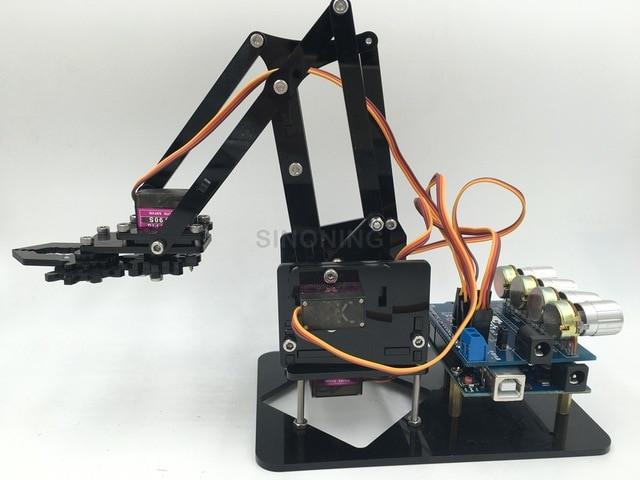 Best ideas about DIY Robot Arm Kit Educational Robotic Claw Set . Save or Pin Arduino Robot Arm NI43 Regardsdefemmes Now.
