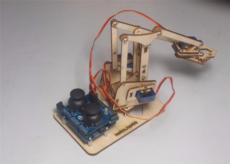 Best ideas about DIY Robot Arm Kit Educational Robotic Claw Set . Save or Pin Intellectual development DIY wooden MeArm robotic arm Now.