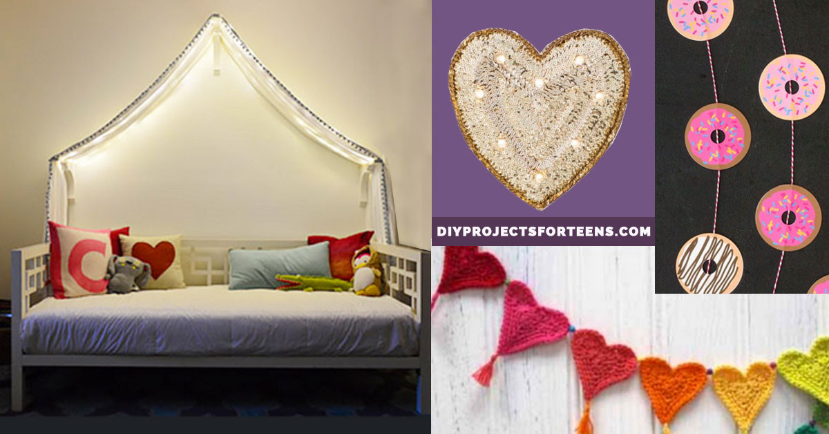 Best ideas about DIY Room Decorations For Teenage Girls . Save or Pin 37 Insanely Cute Teen Bedroom Ideas for DIY Decor Now.