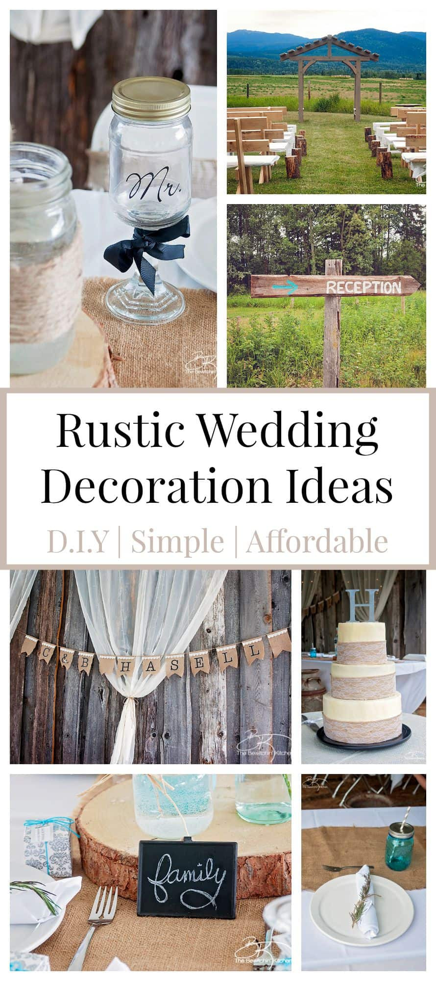 Best ideas about DIY Rustic Wedding Decorations . Save or Pin Rustic Wedding Ideas That Are DIY & Affordable Now.