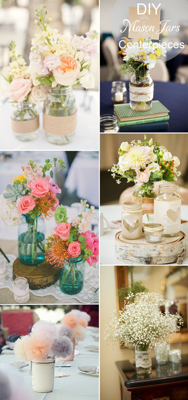 Best ideas about DIY Rustic Wedding Decorations . Save or Pin 40 DIY Wedding Centerpieces Ideas for Your Reception Now.
