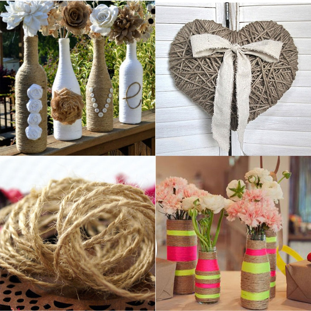 Best ideas about DIY Rustic Wedding Decorations . Save or Pin 10M pcs Jute Twine String Vintage Rustic Wedding Now.