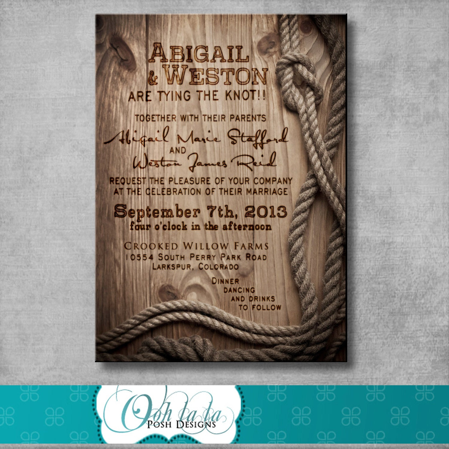 Best ideas about DIY Rustic Wedding Invitations . Save or Pin Rustic Wedding Invitation DIY Printable by OohlalaPoshDesigns Now.