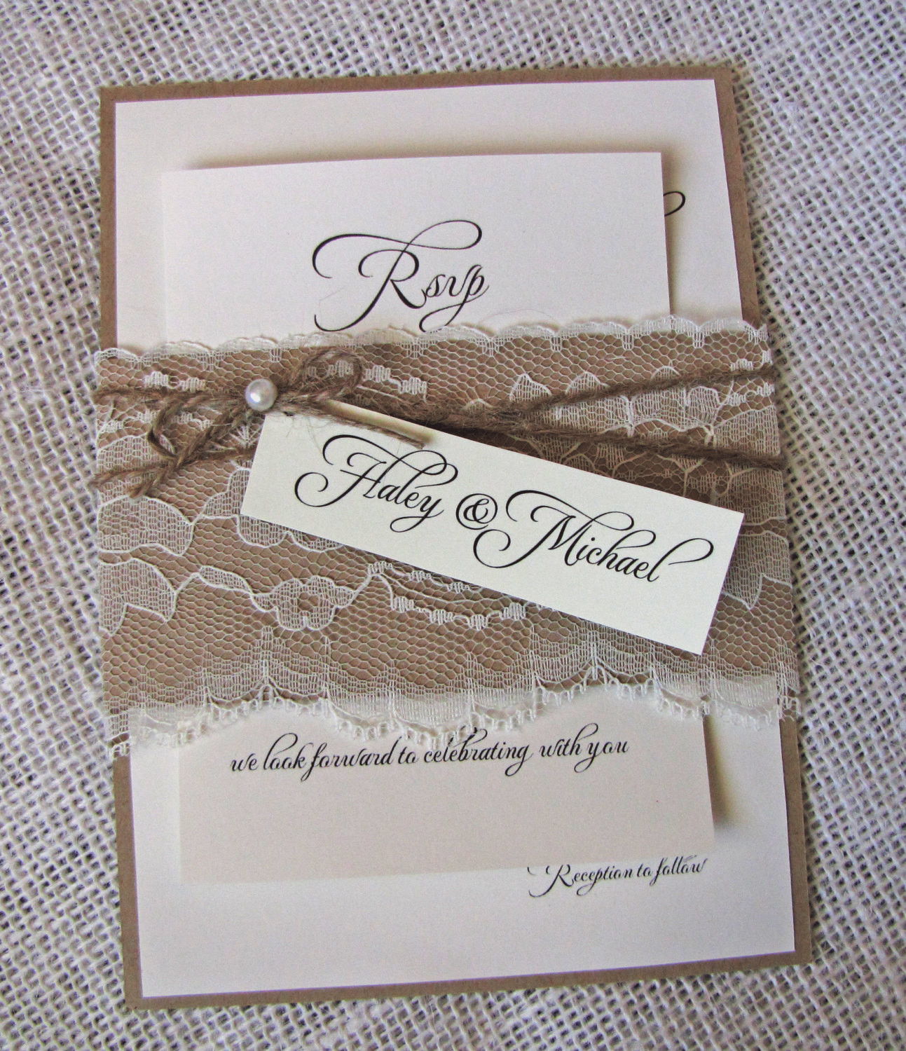 Best ideas about DIY Rustic Wedding Invitations . Save or Pin DIY Rustic Wedding Invitations Lace Wedding Invitation Now.