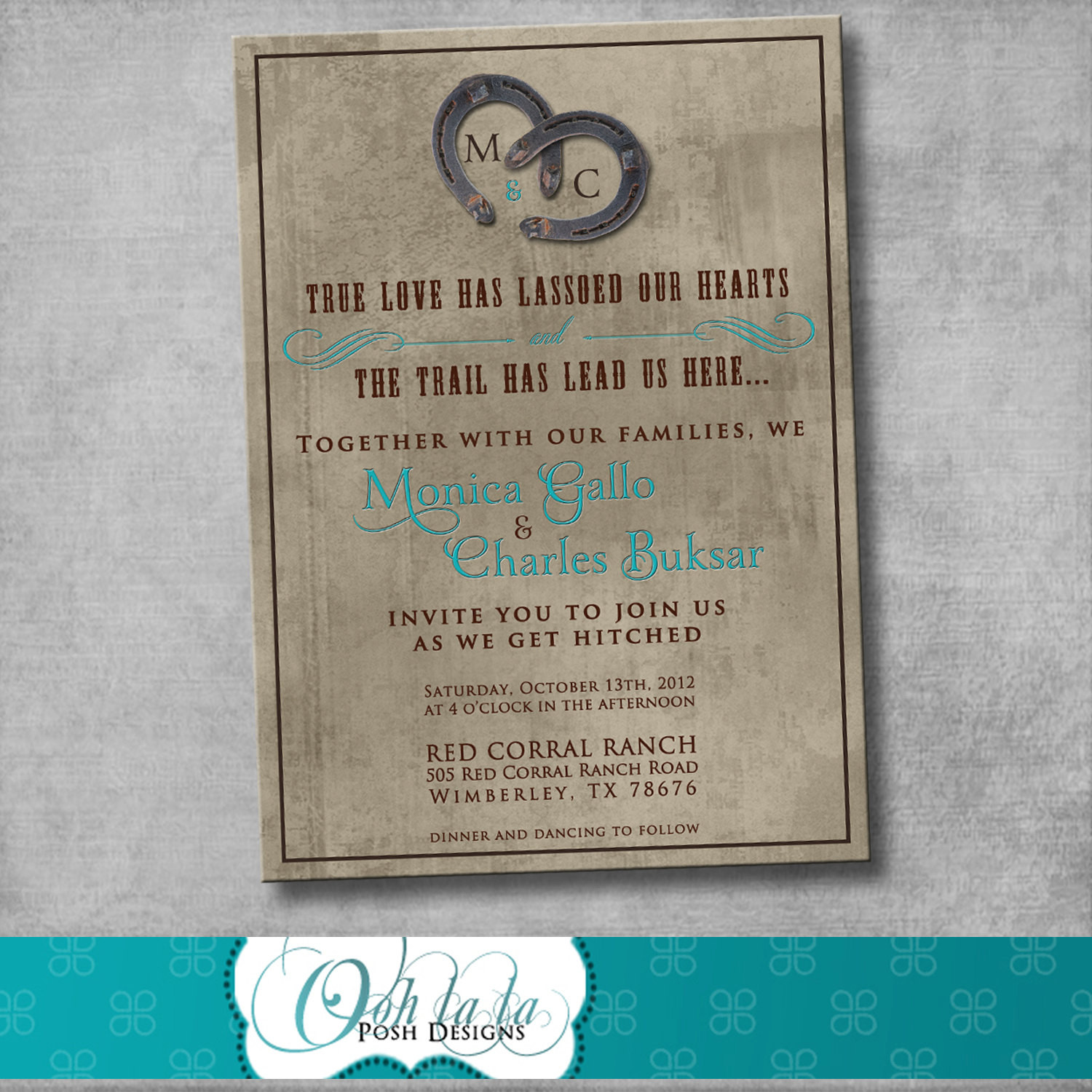 Best ideas about DIY Rustic Wedding Invitations . Save or Pin Rustic Charm Wedding Invitation DIY by OohlalaPoshDesigns Now.