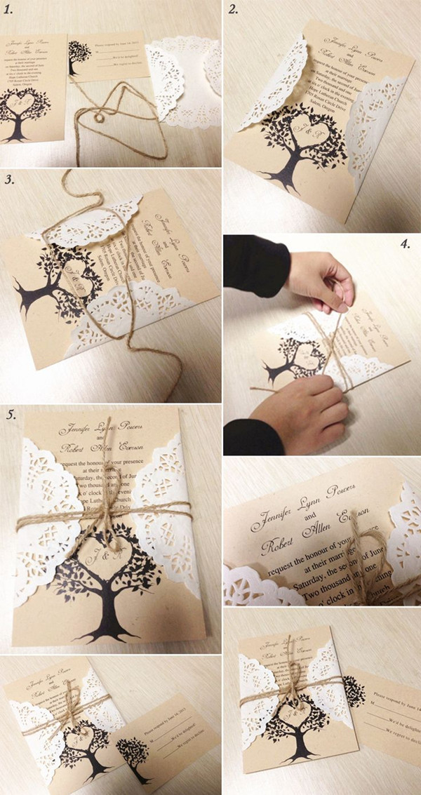 Best ideas about DIY Rustic Wedding Invitations . Save or Pin 5 Original & Stress free DIY Wedding Ideas including Now.