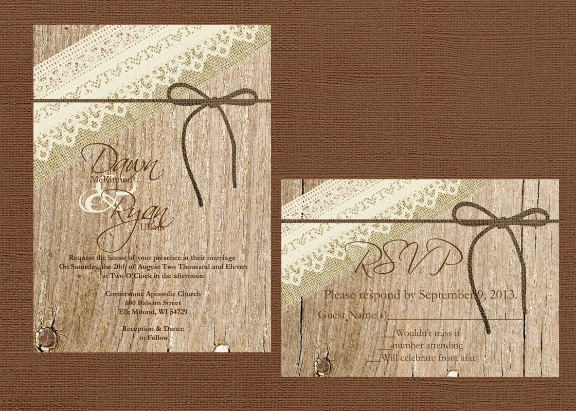 Best ideas about DIY Rustic Wedding Invitations . Save or Pin DIY Rustic Wedding Invitation Lace Wedding Vintage Wedding Now.