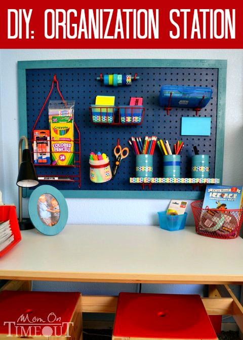 Best ideas about DIY School Organization . Save or Pin DIY Organization Station ScotchBTS Mom Timeout Now.