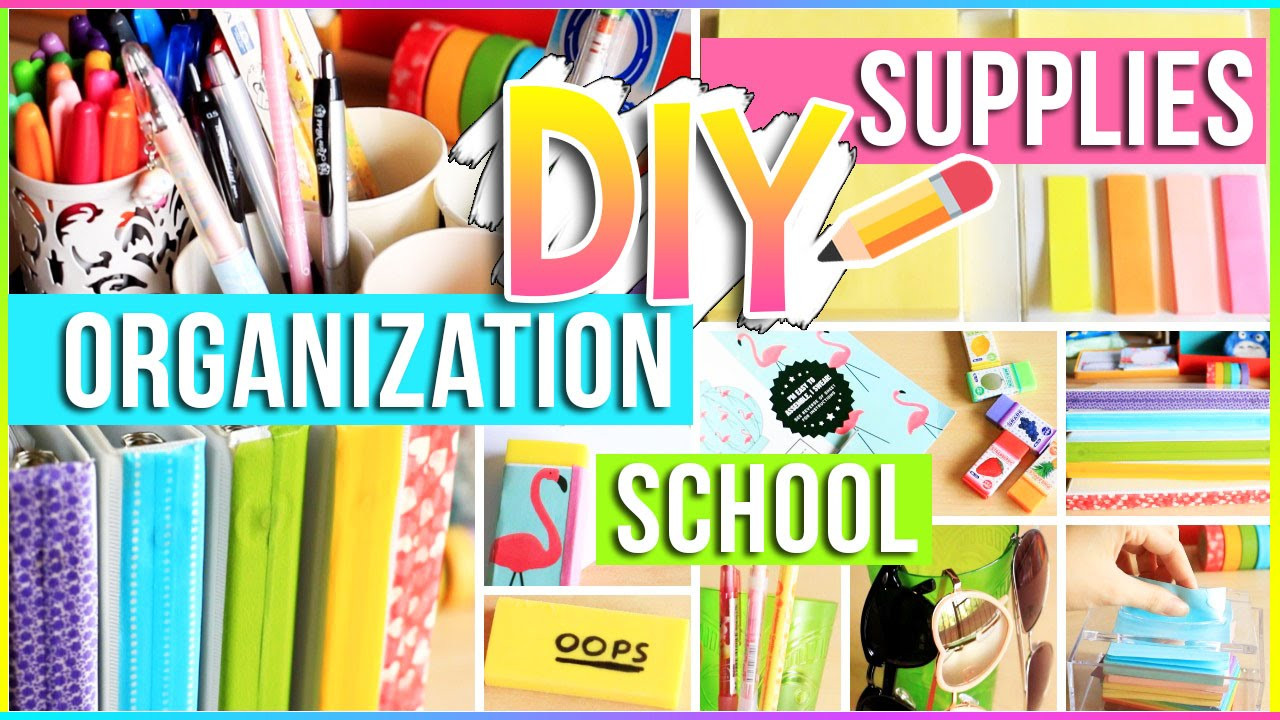 Best ideas about DIY School Organization . Save or Pin DIY School Supplies Organization Ideas for Your Room Now.