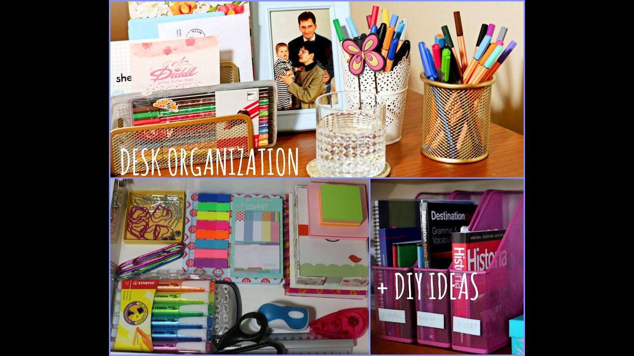 Best ideas about DIY School Organization . Save or Pin Desk Organization DIY Ideas Now.