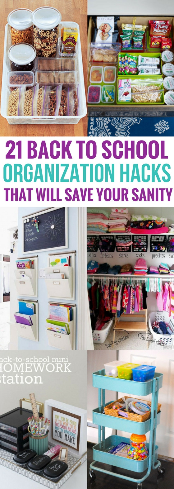 Best ideas about DIY School Organization . Save or Pin 21 Back To School Organization Hacks That Will Save Your Now.