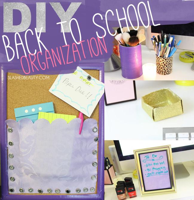 Best ideas about DIY School Organization . Save or Pin Back to School DIY Organization Ideas Now.