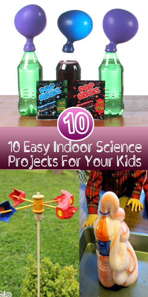Best ideas about DIY Science Experiments For Kids . Save or Pin 10 Easy Indoor Science Projects For Your Kids DIY Stuffs Now.