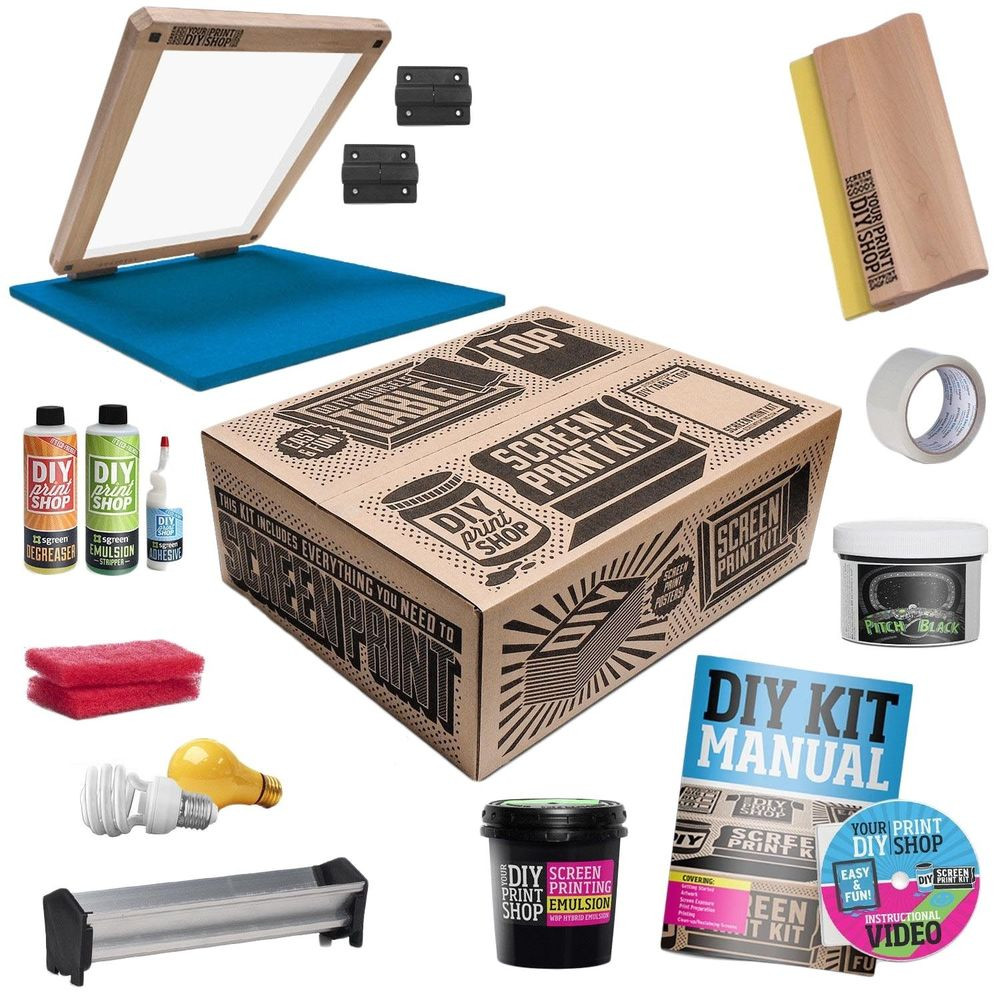 Best ideas about DIY Screen Printing Kit . Save or Pin DIY PRINT SHOP Classic Table Top T Shirt Screen Printing Now.