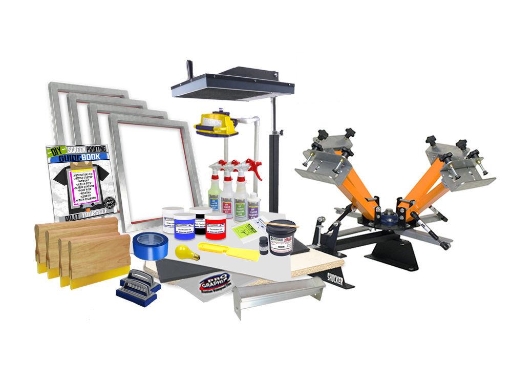 Best ideas about DIY Screen Printing Kit . Save or Pin DIY 4 Color Shocker© Start Up Screen Printing Kit Press Now.