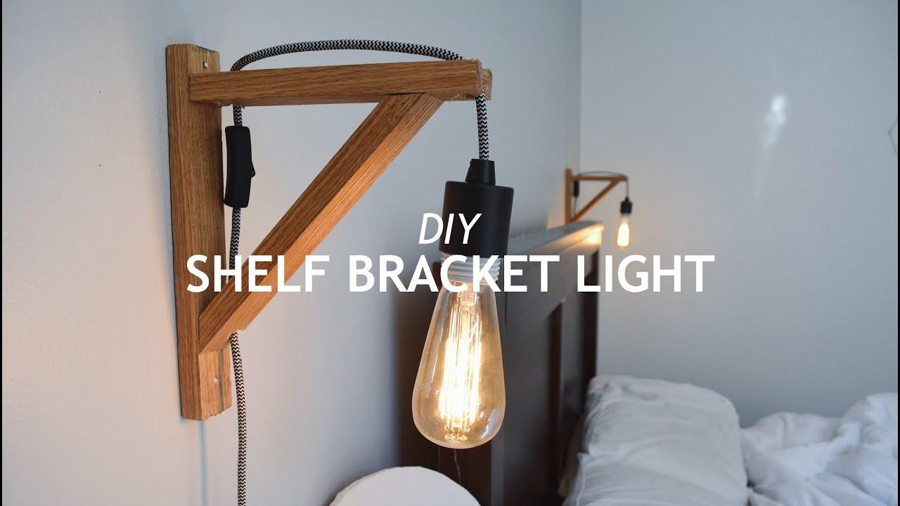 Best ideas about DIY Shelf Bracket . Save or Pin DIY SHELF BRACKET LIGHT Now.