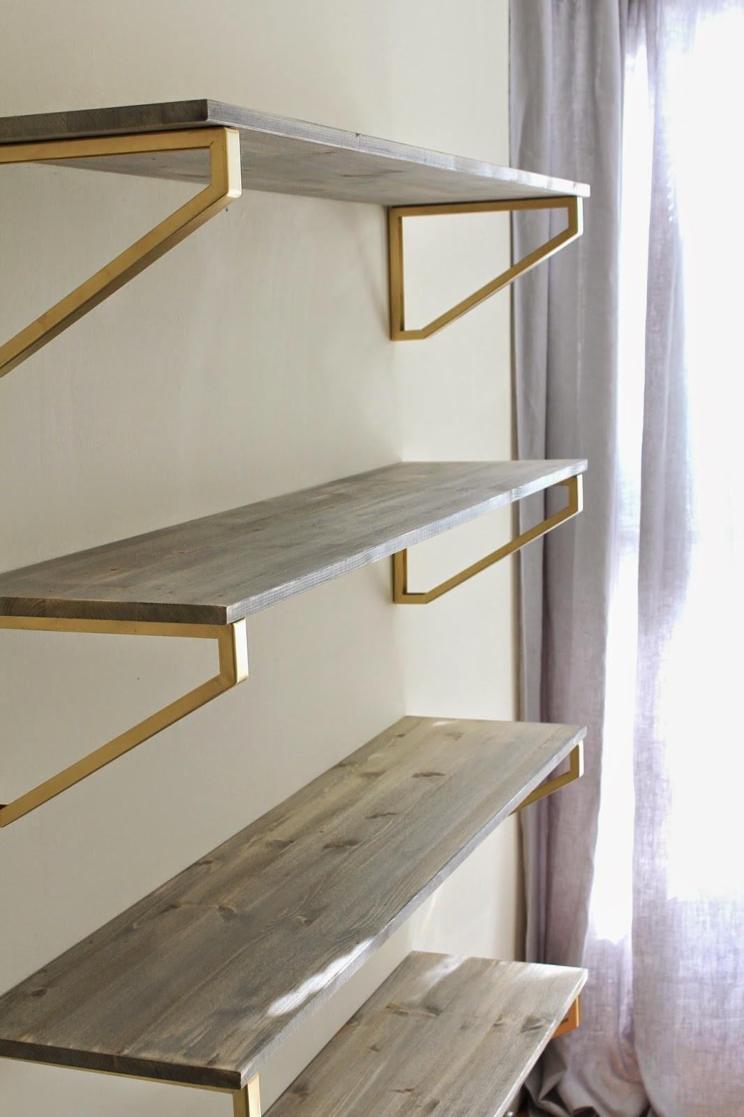 Best ideas about DIY Shelf Bracket . Save or Pin Cup Half Full Rustic Wood Shelf DIY Now.
