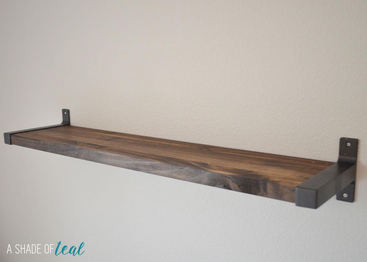 Best ideas about DIY Shelf Bracket . Save or Pin Rustic DIY Bookshelf with IKEA Ekby Brackets Now.