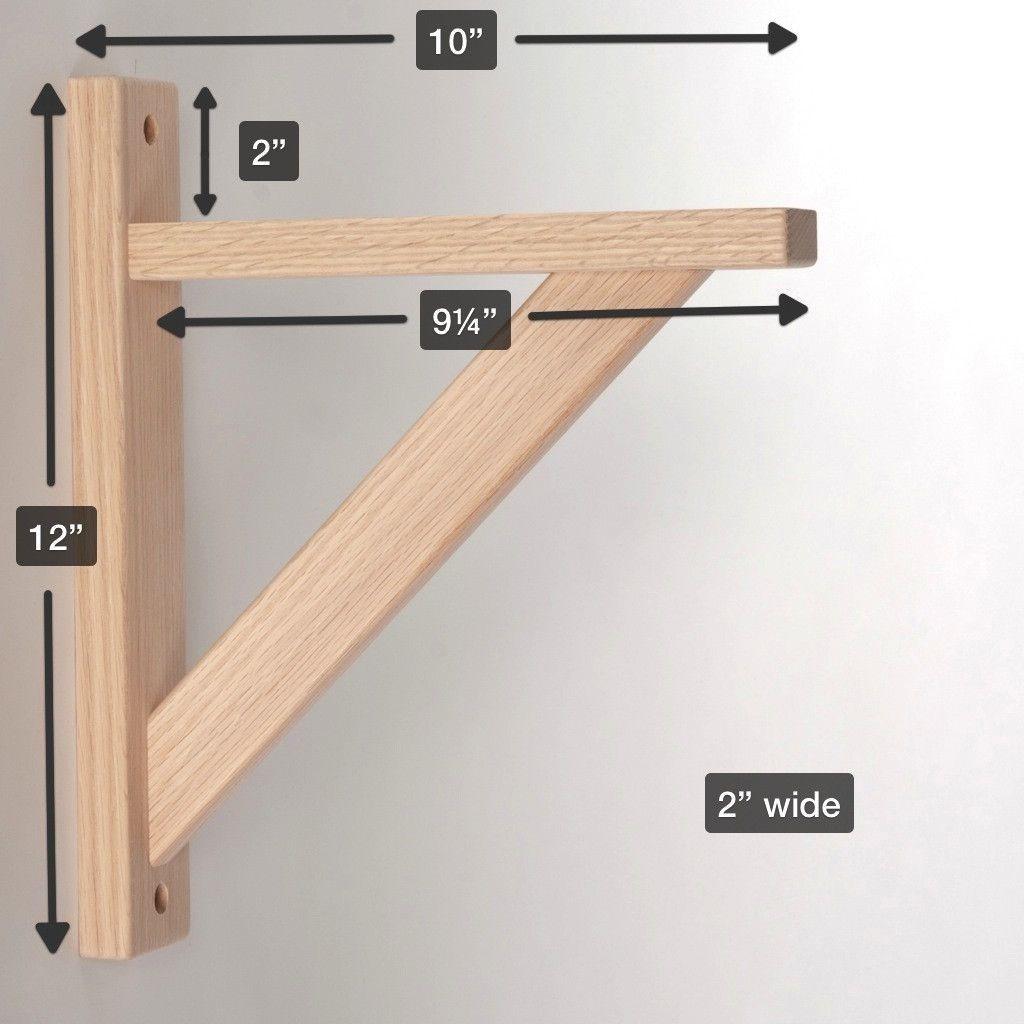 Best ideas about DIY Shelf Brackets . Save or Pin Straight 10 Wood Shelf Bracket Basement Now.