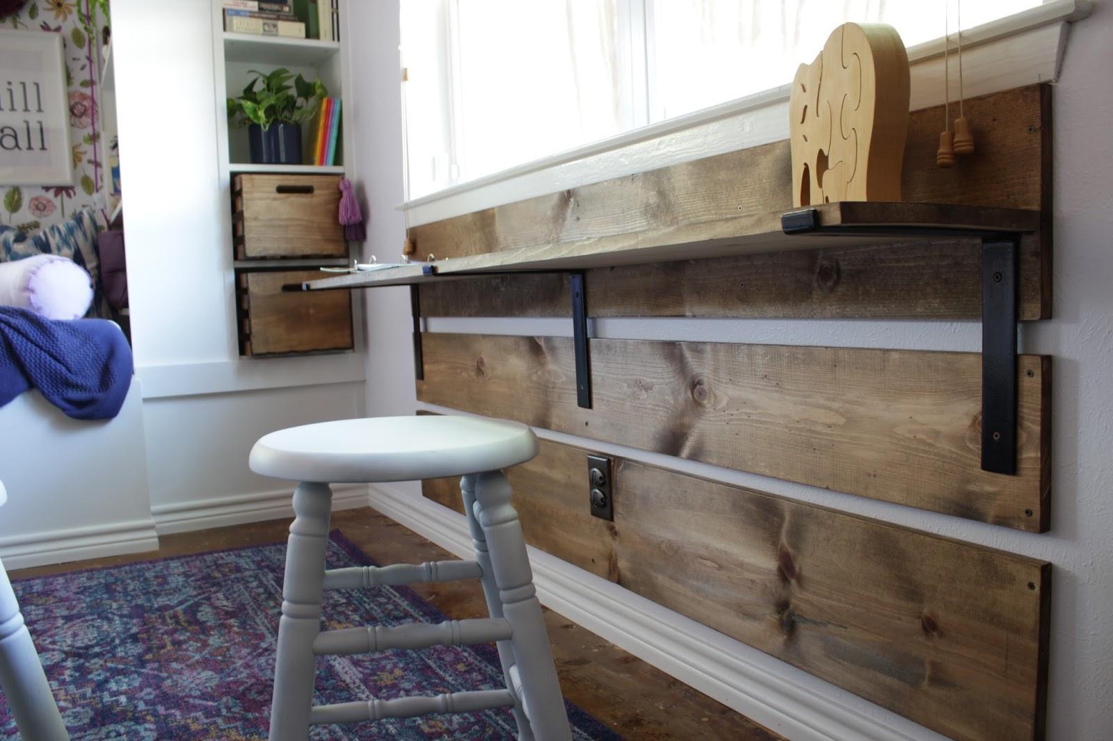 Best ideas about DIY Shelf Brackets . Save or Pin House Homemade DIY Kids Desk with Shelf Brackets Now.