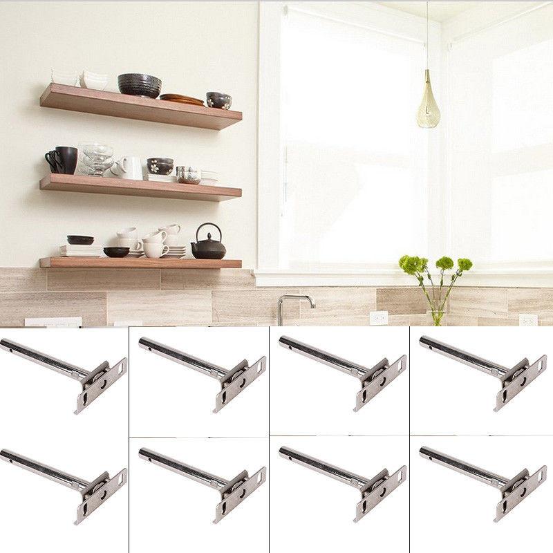 """Best ideas about DIY Shelf Brackets . Save or Pin 8pcs 5"""" Hidden Adjustable Floating Shelf Bracket Concealed Now."""