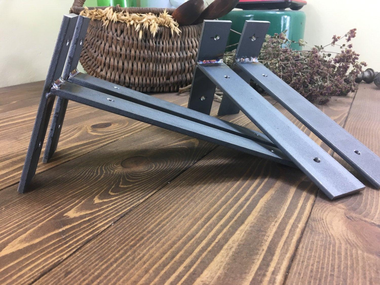 Best ideas about DIY Shelf Brackets . Save or Pin DIY Rustic Shelf Bracket Hangers Lip Metal Shelve Mounting Now.