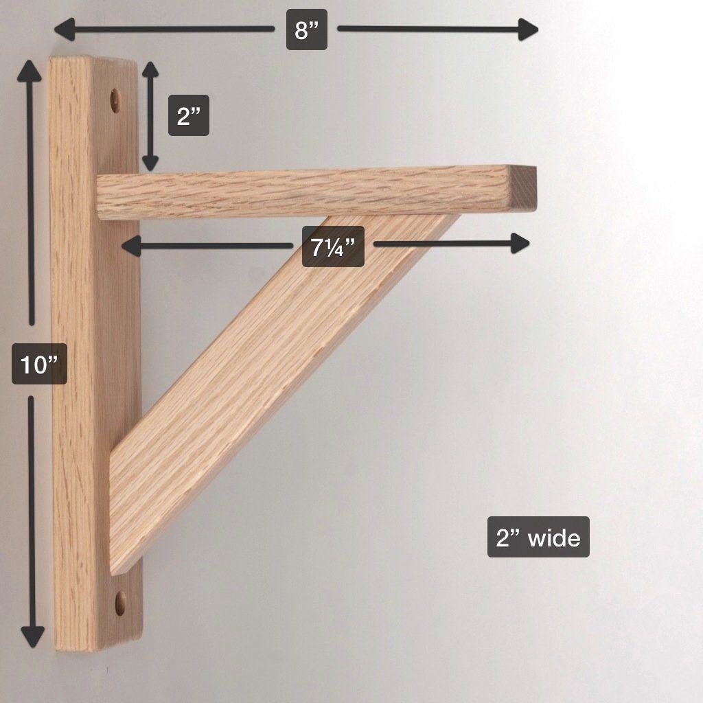 Best ideas about DIY Shelf Brackets . Save or Pin Amazon Wood Shelf Bracket Oak Straight 8 Hardware Now.