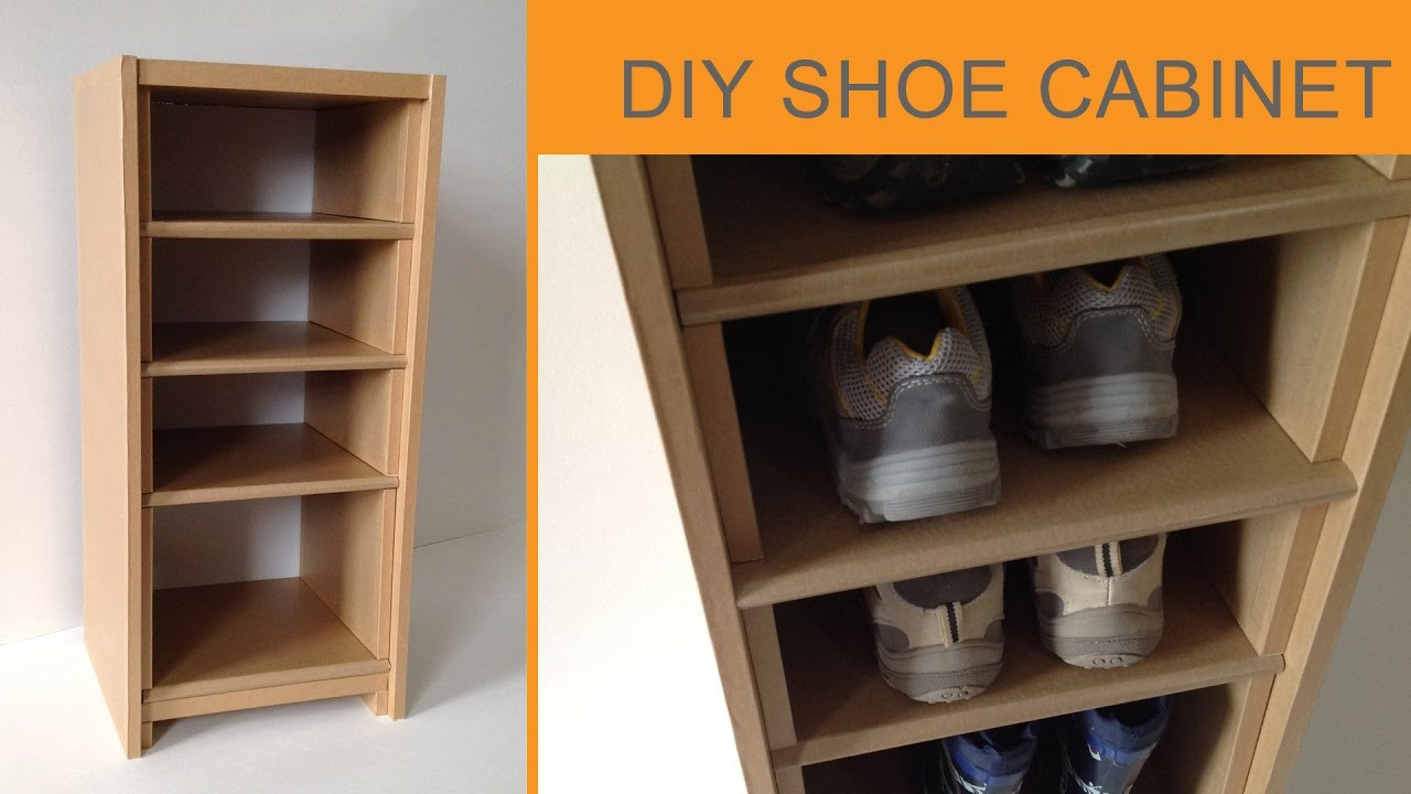 Best ideas about DIY Shoe Rack Cardboard . Save or Pin DIY Cardboard Shoe Cabinet cardboard furniture HD Now.