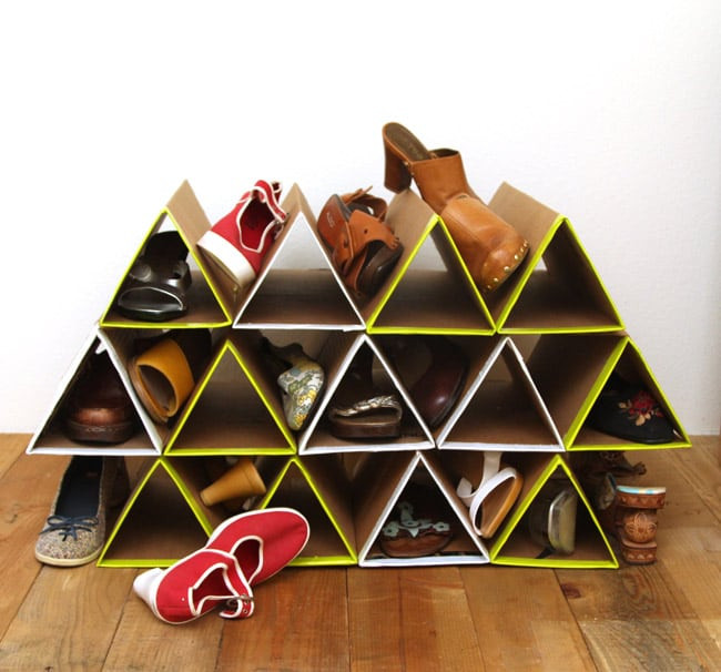 Best ideas about DIY Shoe Rack Cardboard . Save or Pin Gorgeous Farmhouse Boho 5 Minute DIY Storage Boxes A Now.