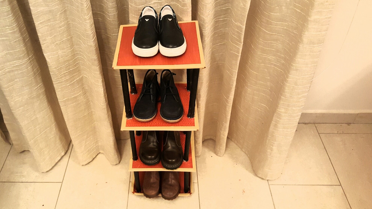 Best ideas about DIY Shoe Rack Cardboard . Save or Pin DIY How to Cardboard Shoe Rack Shelf TUTORIAL For Now.