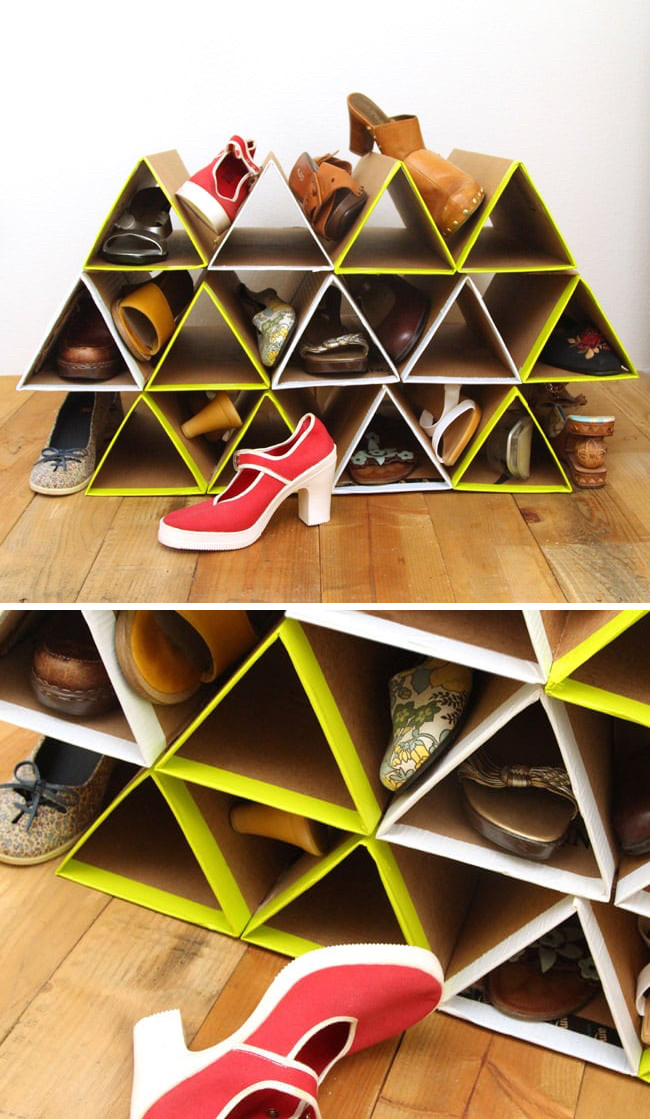 Best ideas about DIY Shoe Rack Cardboard . Save or Pin 37 Space Saving Shoe Storage Ideas Homelovr Now.