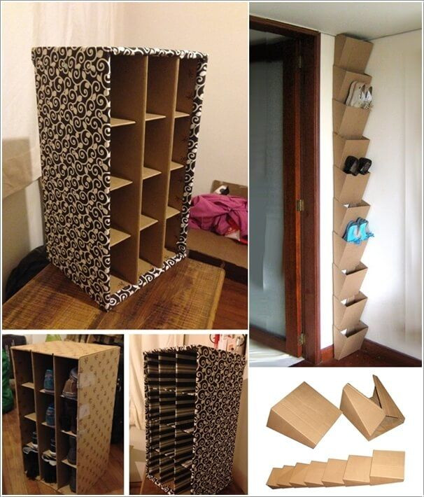 Best ideas about DIY Shoe Rack Cardboard . Save or Pin 15 Clever Narrow and Vertical Shoe Storage Ideas Now.