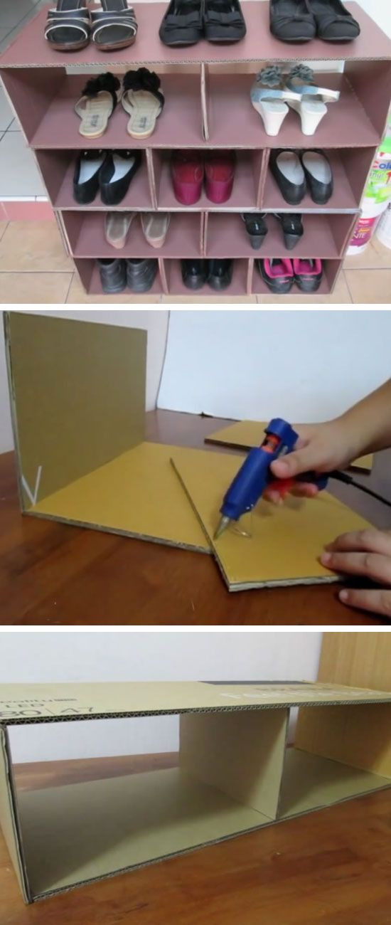 Best ideas about DIY Shoe Rack Cardboard . Save or Pin 30 Shoe Storage Ideas for Small Spaces make1 Now.
