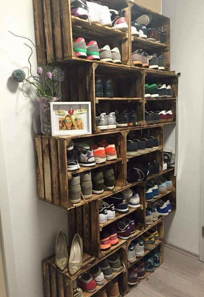 Best ideas about DIY Shoe Rack . Save or Pin 21 DIY Shoes Rack & Shelves Ideas DIY Tips Now.